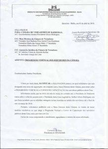 Sindsemb questiona pagamento de progressão vertical aos efetivos da Câmara de Vereadores