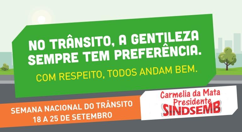 Presidente Carmélia da Mata comparece a evento da Semana Nacional do Trânsito em Barreiras