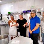 Sindsemb participa de inspeção à empresa que fornece alimentação aos servidores e solicita melhoria na entrega das marmitas