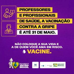 Sindsemb alerta professores e profissionais da saúde sobre final da campanha de vacinação da gripe