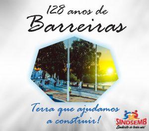 PARABÉNS BARREIRAS PELOS SEUS 128 ANOS!