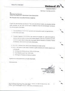 UNIMED INFORMA AOS SEUS USUÁRIOS SOBRE REAJUSTE DE CONSULTAS A PARTIR DE JUNHO DE 2019