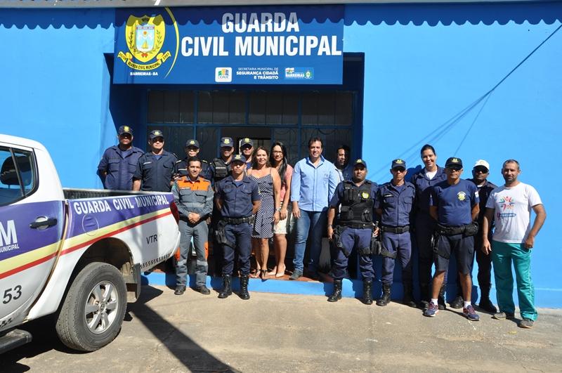 Presidente do Sindsemb visita novas instalações da Guarda Municipal dentro do Parque de Exposições